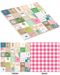 25-pc Happy Squares PaperStack