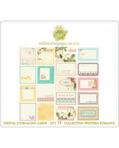 Western Romance Digi Journaling Cards