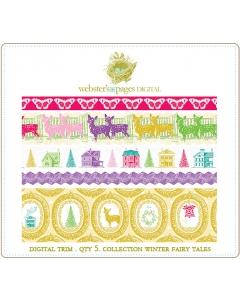 Winter Fairy Tales Digi Fabric Trim