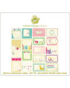 Winter Fairy Tales Digi Journaling Cards