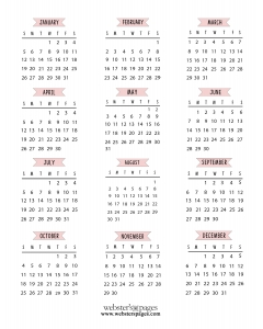 FREE - Monthly Calendar