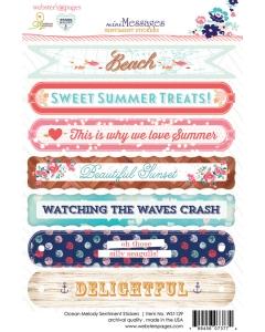 Ocean Melody Sentiment 4x6 Sticker
