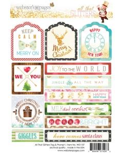Glitters Tag & Prompt 4x6 Sticker