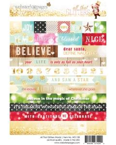 Glitters Word 4x6 Sticker