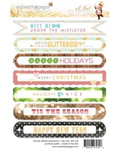 Glitters Sentiment 4x6 Sticker
