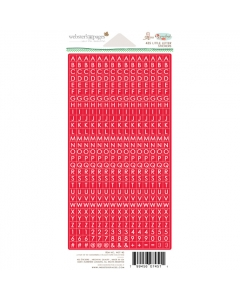 Village Little Letter Stickers Red
