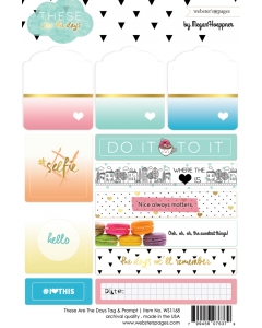 Days Tag & Prompt 4x6 sticker