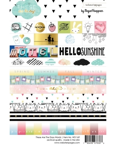 Days Word 4x6 sticker