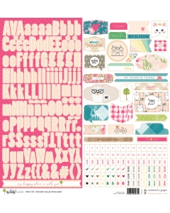 Happy Place 12x12 Sticker Sheet