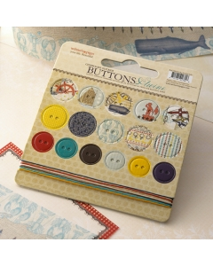 Yacht Club- Chipboard Buttons & Twine