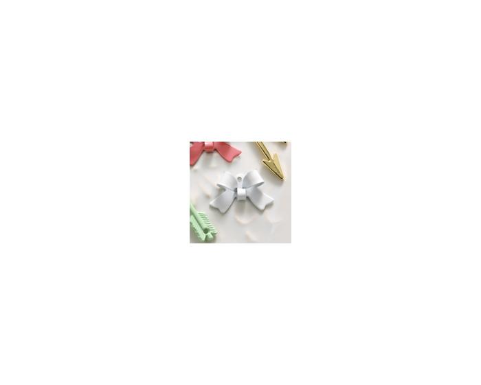8-pc Charm: White Bow