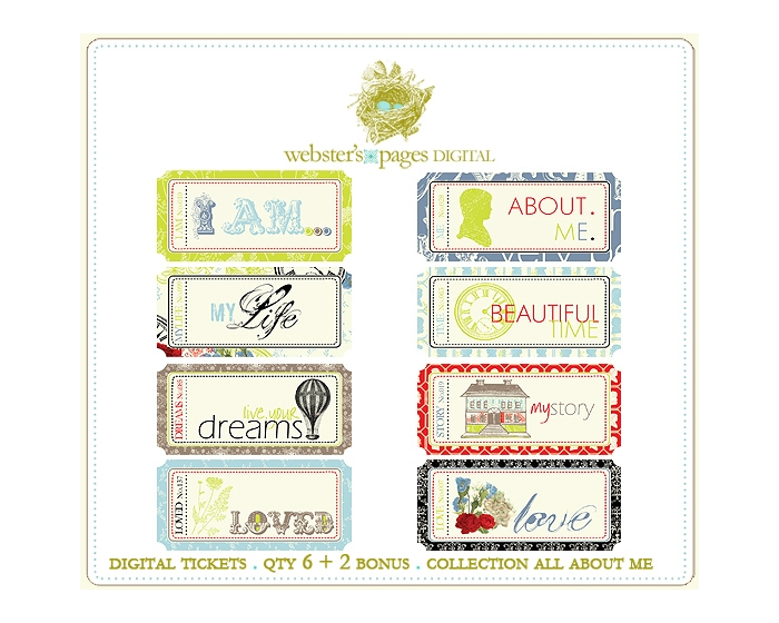All About Me Digi Tickets