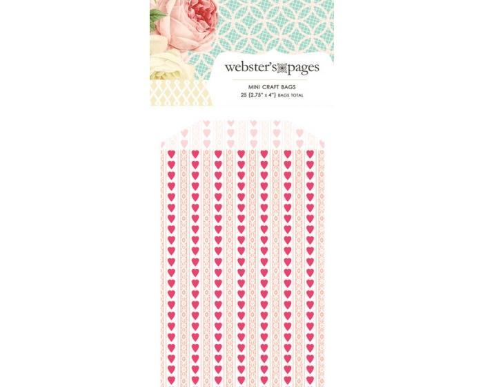 Bulk Mini Bag Hearts: Pink