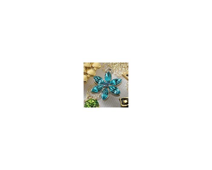 Charm Bulk - Blue Flower