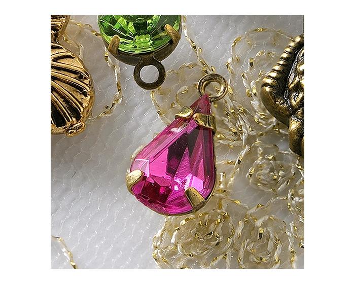 Charm Bulk - Pink Rhinestone