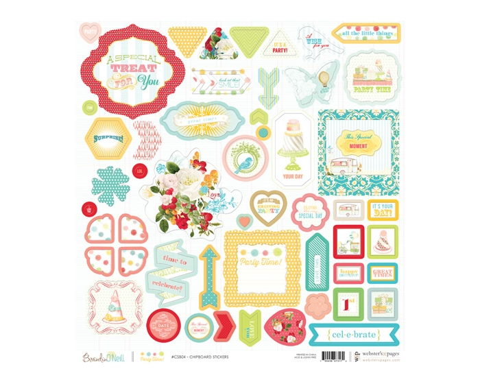 Chipboard Sticker Board- Party Time!