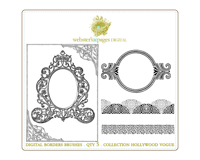 Hollywood Vogue Borders Brushes