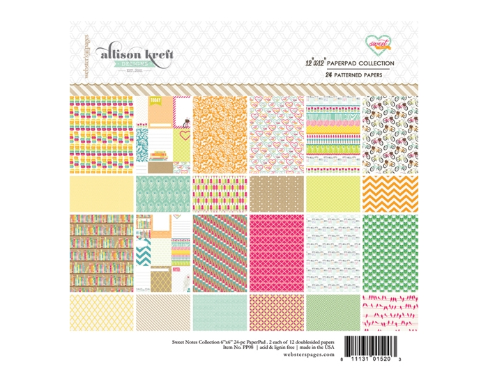 Sweet Notes 12x12 Collection Pad