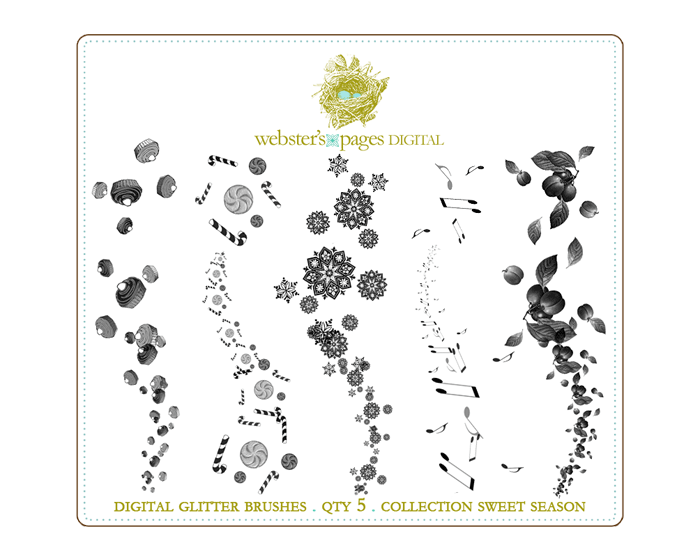 Sweet Season Digi Glitter Brushes