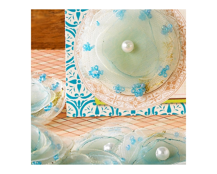 the HAPPINESS Accents } Princess Petals Blue BULK