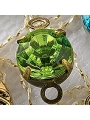 Charm Bulk - Green Rhinestone