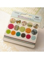 Trendsetter- Chipboard Buttons & Twine