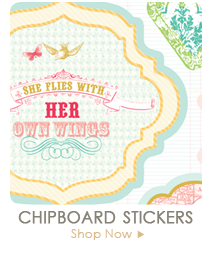 Webster's Pages Chipboard Stickers