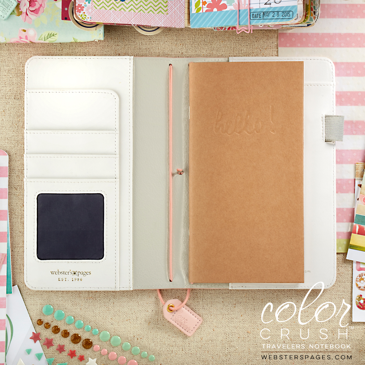 Blush Stripe Color Crush Traveler Notebook