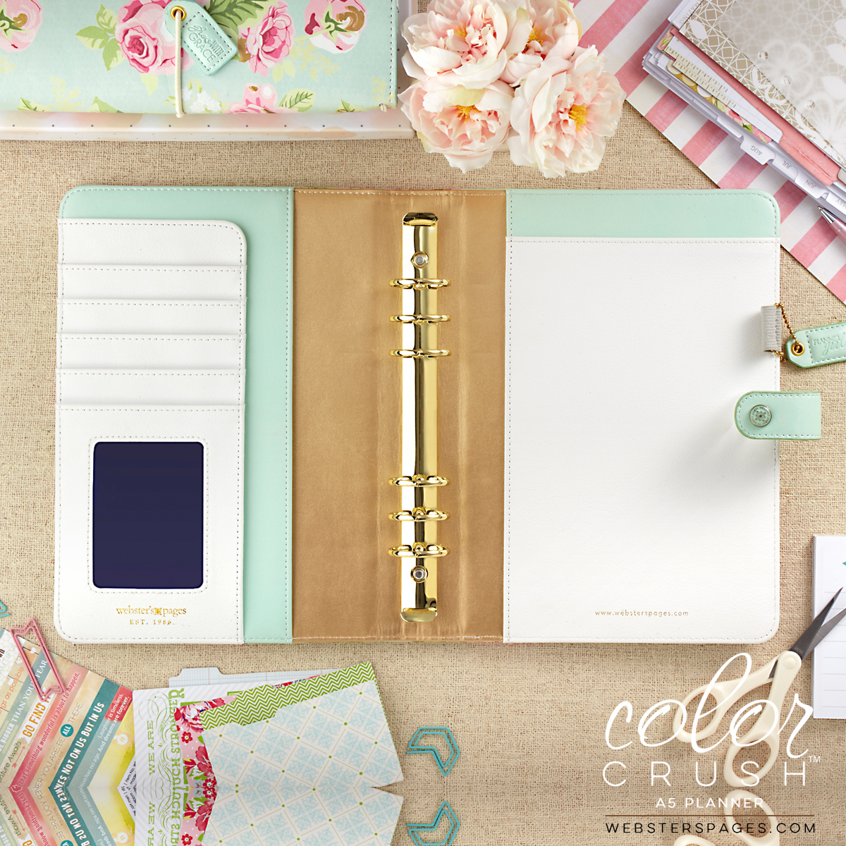 A5 Color Crush Mint Floral Planner