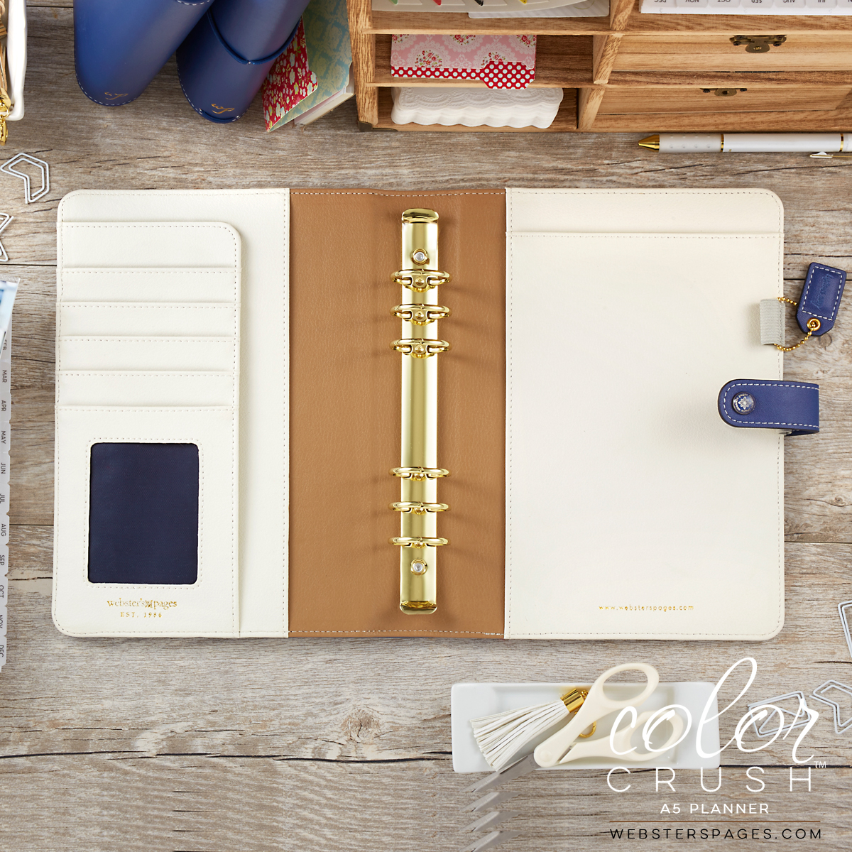 A5 Color Crush Navy Planner