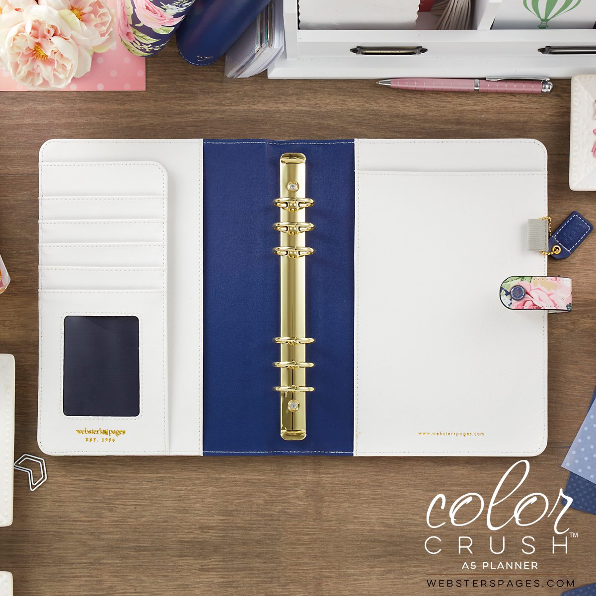 A5 Color Crush Navy Floral Planner