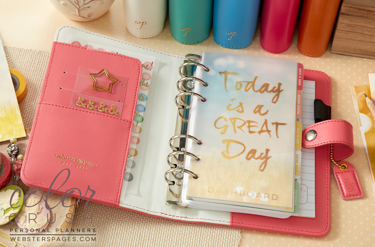 Webster's Pages New Personal Planners, Color Crush!